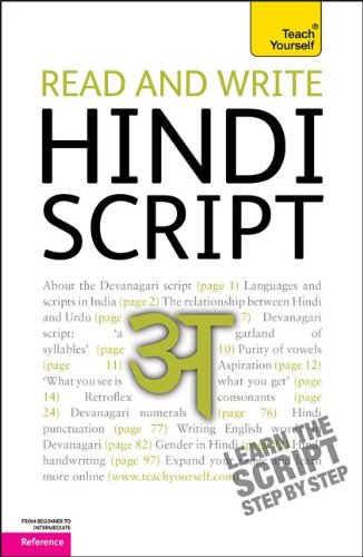 Read and Write Hindi Script: A Teach Yourself Guide (TY: Language Guides) - Rupert Snell