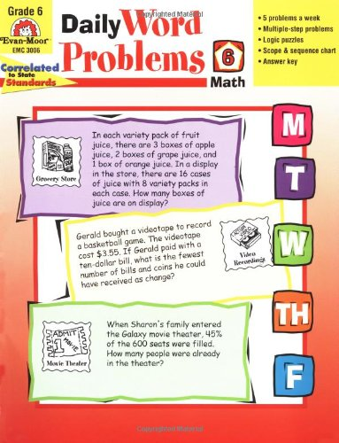 Daily Word Problems, Grade 6 - Jill Norris