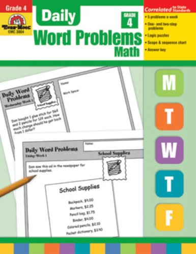 Daily Word Problems, Grade 4 - Evan-Moor Educational Publishers