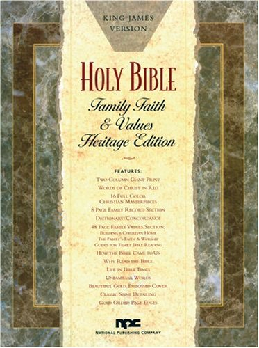 Family Faith and Values Bible: King James Version - National Publishing Company