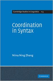 Coordination in Syntax