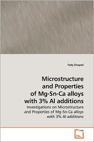 Microstructure And Properties Of Mg-Sn-Ca Alloys With 3% Al Additions - Fady Elsayed