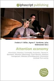 Attention Economy - Frederic P. Miller, Agnes F. Vandome, John McBrewster