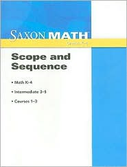 Saxon Math: Scope and Sequence 2008 - Houghton Mifflin Harcourt