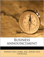 Business Announcement
