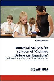 Numerical Analysis For Solution Of 'Ordinary Differential Equations' - Ram Bilas Misra