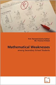 Mathematical Weaknesses - Prof. Rameshchandra Kothari, Ms. Prerana H Shelat