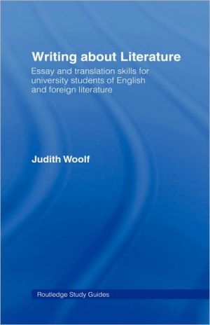 Writing About Literature - Judith Woolf