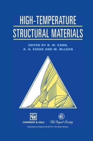 High-temperature Structural Materials - Robert Cahn, Anthony Evans, Malcolm McLean