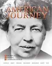 The American Journey: Teaching and Learning Classroom Edition, Volume 2 - Goldfield, David / Argersinger, Jo Ann / Argersinger, Peter