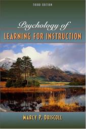 Psychology of Learning for Instruction - Driscoll, Marcy Perkins / Driscoll, Mary Perkins