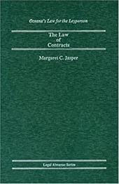 The Law of Contracts - Jasper, Margaret C.