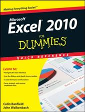 Excel 2010 for Dummies Quick Reference - Banfield, Colin / Walkenbach, John