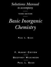 Basic Inorganic Chemistry, Solutions Manual - Cotton, F. Albert / Cotton / Gaus
