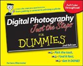 Digital Photography Just the Steps for Dummies - Obermeier, Barbara