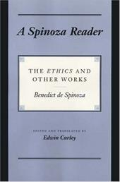 "A Spinoza Reader: The ""Ethics"" and Other Works - de Spinoza, Benedict / Spinoza, Benedictus de / Curley, Edwin"
