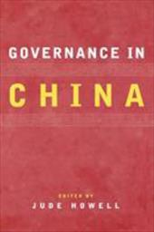 Governance in China - Howell, Jude / Blecher, Marc