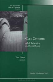 Class Concerns: Adult Education and Social Class - Nesbit, Tom