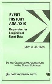 Event History Analysis: Regression for Longitudinal Event Data - Allison, Paul D. / Niemi, Richard G.