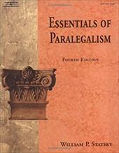 Essentials of Paralegalism - Statsky, William P.