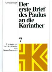 Der Erste Brief Des Paulus an Die Korinther [The First Letter of Paul to the Corinthians] - Christian Wolff