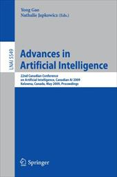 Advances in Artificial Intelligence - Gao, Yong / Japkowicz, Nathalie