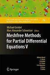 Meshfree Methods for Partial Differential Equations V - Griebel, Michael / Schweitzer, Marc Alexander