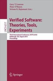Verified Software: Theories, Tools, Experiments - Leavens, Gary T. / O'Hearn, Peter / Rajamani, Sriram K.