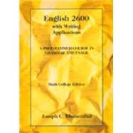 English 2600 with Writing Applications A Programmed Course in Grammar and Usage - Blumenthal, Joseph C.