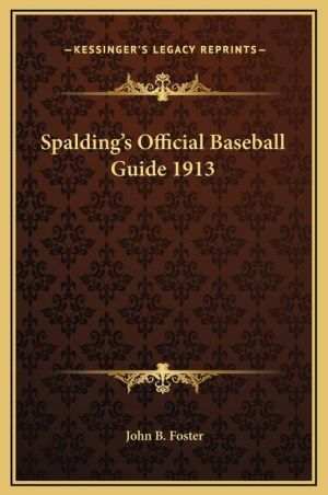 Spalding's Official Baseball Guide 1913