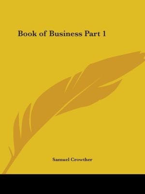 Book of Business - Samuel Crowther (Editor)