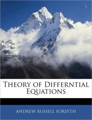 Theory Of Differntial Equations - Andrew Russell Forsyth