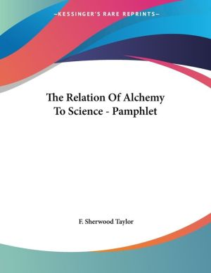 Relation of Alchemy to Science - Pamphlet