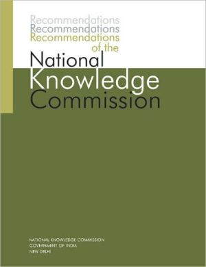 Recommendations of the National Knowledge Commission - Government of India National Knowledge Commission