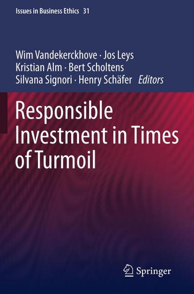 Responsible Investment in Times of Turmoil - Wim Vandekerckhove