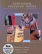 Additional Calculus Topics - Michael Ziegler Raymond Barnett