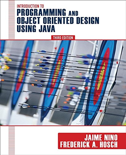 Introduction to Programming and Objectand#8211;Oriented Design Using Java - Jaime Niand#241;o