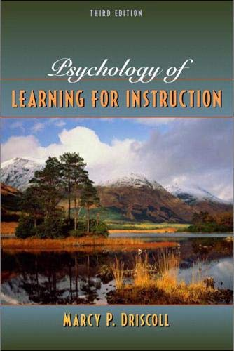 Psychology of Learning for Instruction (Hardcover) - Marcy Perkins Driscoll