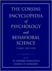 The Corsini Encyclopedia of Psychology and Behavioral Science - W. Edward Craighead