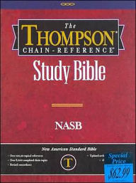 Thompson Chain-Reference Study Bible: New American Standard Bible (NASB), Black Bonded Leather, Thumb-Indexed - Thompson Chain Reference Bible Staf