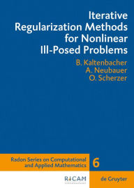 Iterative Regularization Methods For Nonlinear Ill-Posed Problems - Barbara Kaltenbacher