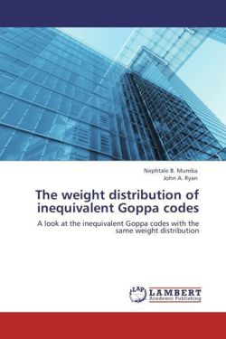 The weight distribution of inequivalent Goppa codes - Mumba, Nephtale B. / Ryan, John A.