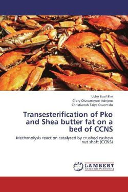 Transesterification of Pko and Shea butter fat on a bed of CCNS