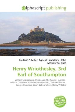 Henry Wriothesley, 3rd Earl of Southampton
