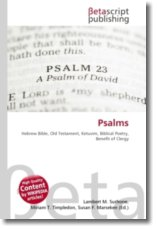Psalms: Hebrew Bible, Old Testament, Ketuvim, Biblical Poetry, Benefit of Clergy