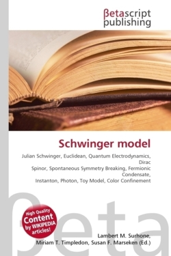 Schwinger model: Julian Schwinger, Euclidean, Quantum Electrodynamics, Dirac Spinor, Spontaneous Symmetry Breaking, Fermionic Condensate, Instanton, Photon, Toy Model, Color Confinement