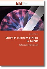 Study of resonant sensors in GaPO4 - DELMAS, Laurent