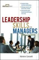 Leadership Skills for Managers