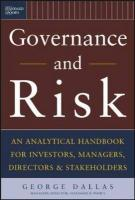 Governance and Risk: An Analytical Handbook for Investors, Managers, Directors, and Stakeholders