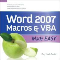 Word 2007 Macros & VBA Made Easy